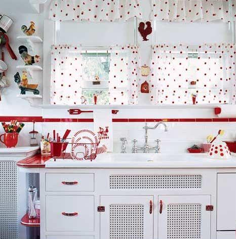 Retro Kitchen Curtains - Mid Century Decor Ideas