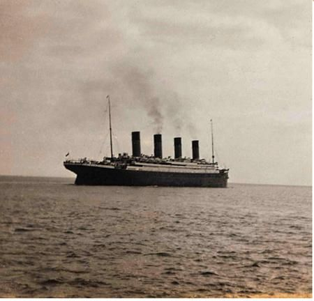 Image result for titanic afloat