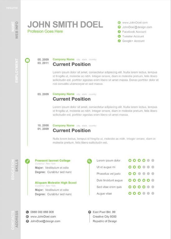 first page resume and resume templates on pinterest