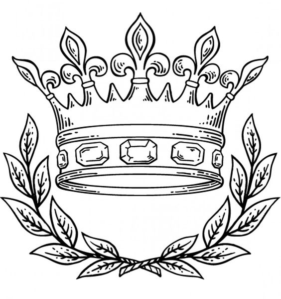 crowns royal crowns and coloring pages on pinterest