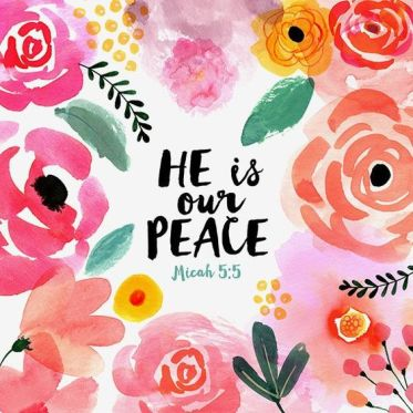 Margaret Berg Art: He is Our Peace Pink Blooms: