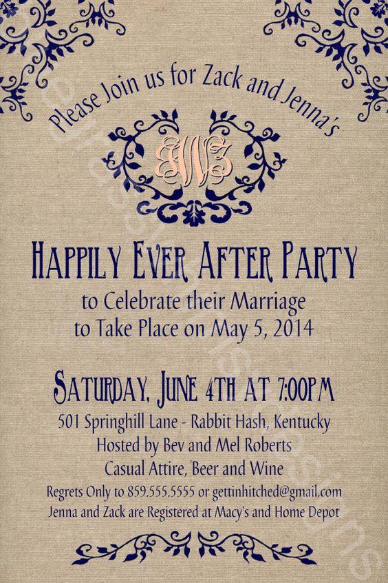 Rustic / Burlap/ Linen Post Wedding or Elopement