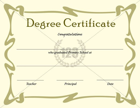 Doc792612 Degree Templates Doc585453 Degree Certificate – Degree Templates