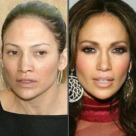 Celebrities without makeup: Jennifer Lopez: