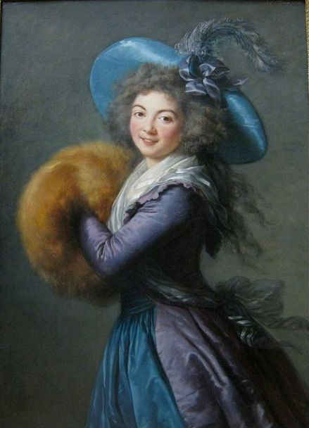 "Madame Mole-Reymond Elisabeth-Louise Vigee-Le Brun, 1786-""The Lady with the Muff"", the famous portrait of Madame Molé-Raymond, the pretty actress of the Comédie Française, is considered to be one of the masterpieces of Marie Louise Élisabeth Vigée Le Brun (1755 – 1842). Vigée Le Brun was a French painter, and is recognized as the most famous female painter of the 18th century. She served as a portrait painter to the French Queen Marie-Antoinette.:"