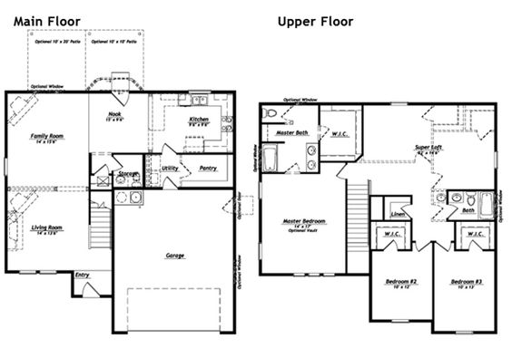 Beds, Home And Home Floor Plans On Pinterest