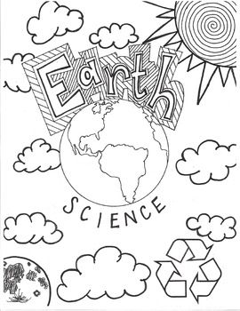 earth science cover pages and coloring pages on pinterest