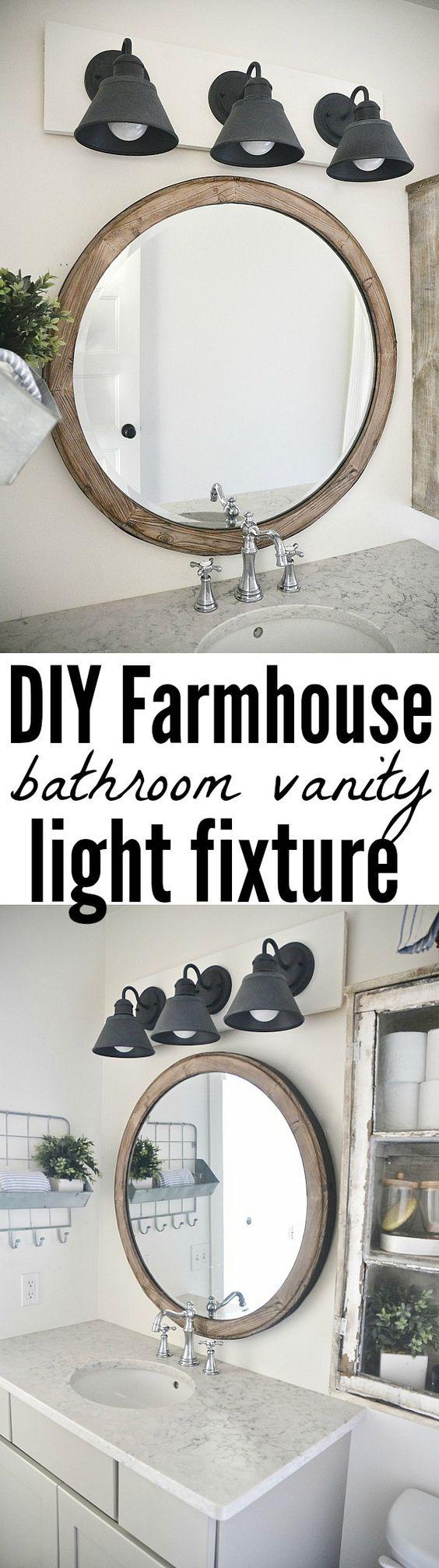 Industrial light fixtures, Vanity light fixtures and Round