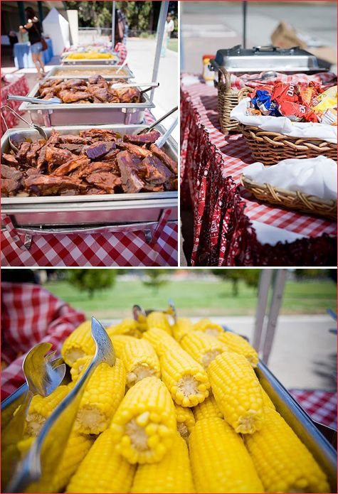 Barbecue for cowboy baby shower