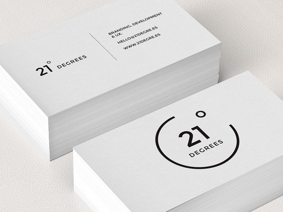 Simplistic elegant black and white business cards