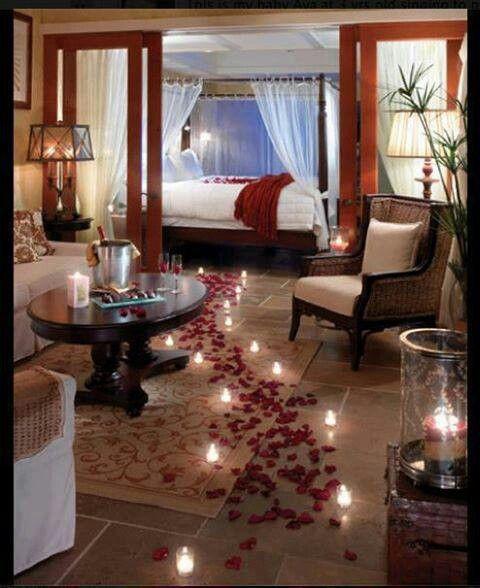 Romantic Bedroom Setup True Romance Pinterest