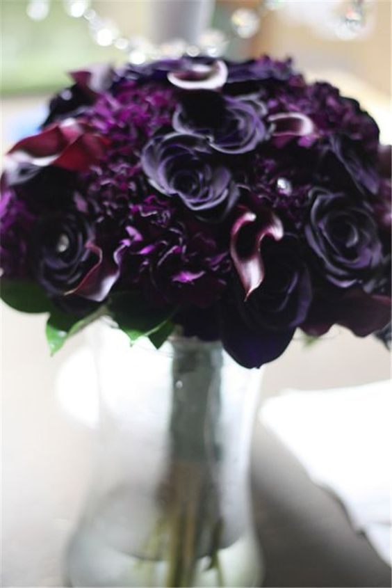 Purple Wedding Colors Dark And Colors On Pinterest