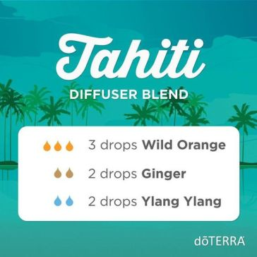 If you like floral diffuser blends, this one is for you. Breathe in and travel to Tahiti with the heady scents of Ylang Ylang, Wild Orange, and Ginger.: