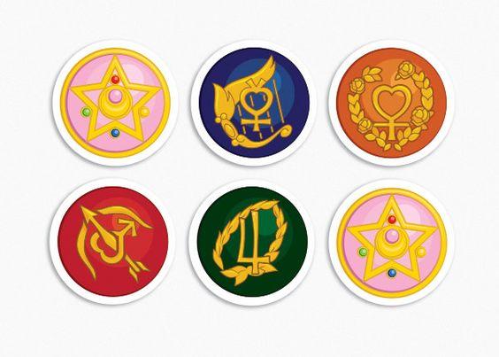 Sailor Jupiter Symbol 2 Sets Of 6 Sailor Moon Tattoos