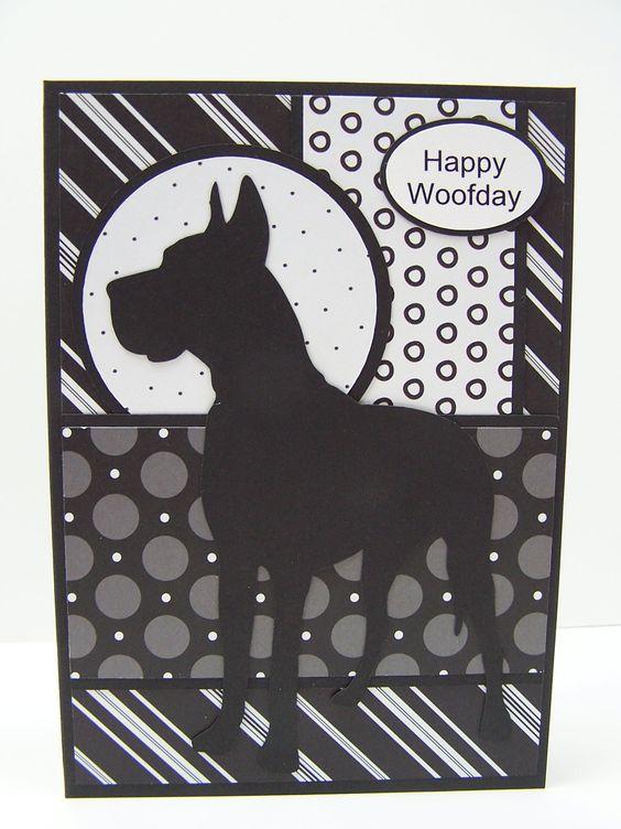 Great Dane Dog Birthday Card Card Ideas Animals