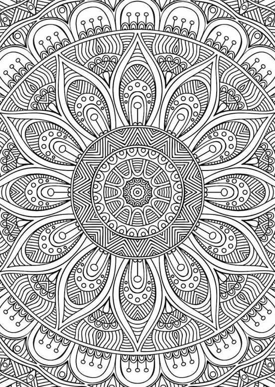 mandala mehr malbuch colouring page colouring adult zentangle mandala