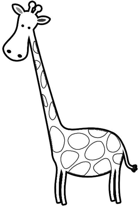 giraffes cartoon giraffe and free coloring on pinterest
