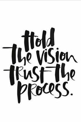 Hold the vision trust the process. If it's reallly important to you, focus & go get it.: