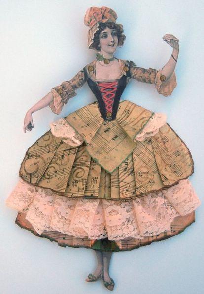 Paper art doll: