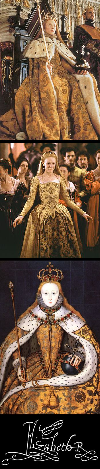 The coronation costume from the movie, 'Elizabeth