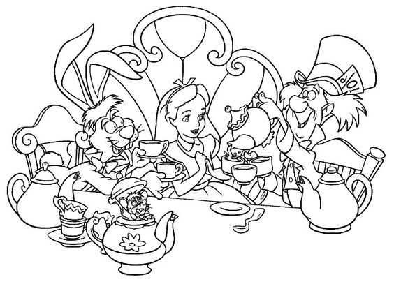 teas colouring pages and tea parties on pinterest