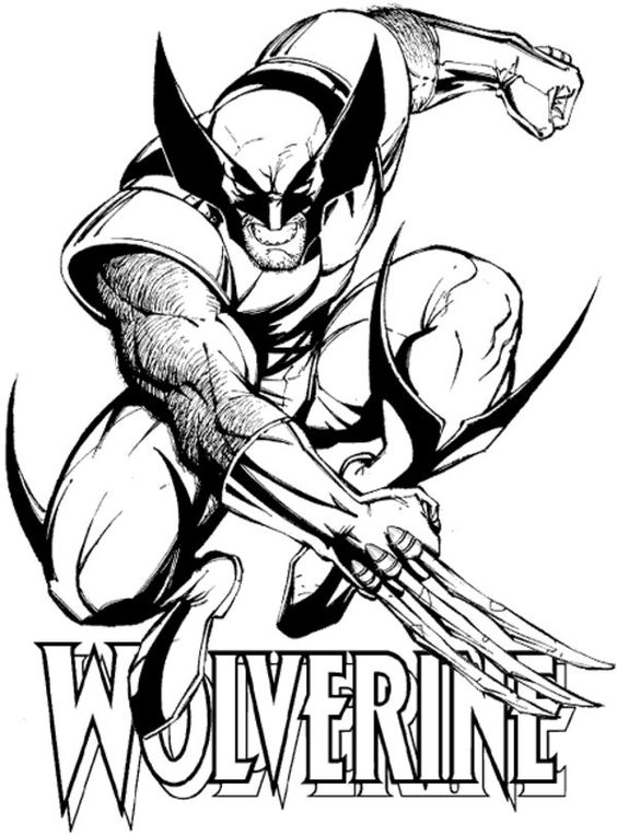 x men coloring pages wolverine  free printable wolverine
