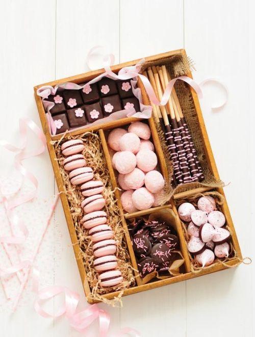Dessert Gifts Goody Box Macaroons Cookies Sweet Treats