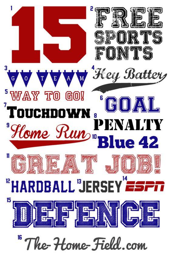 free sports fonts SPORTS MOM Pinterest Editor