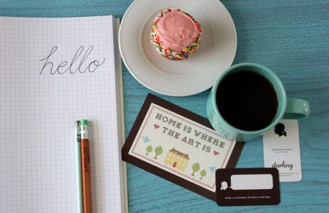 cupcakes and cute handwriting.: