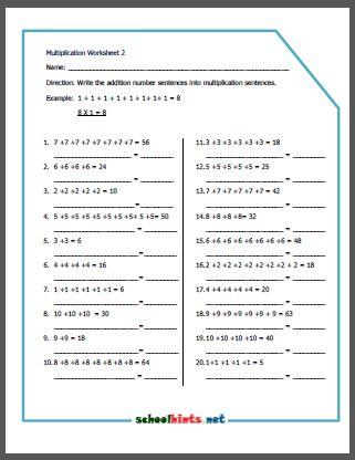 Exercise Multiplication And Mathematics