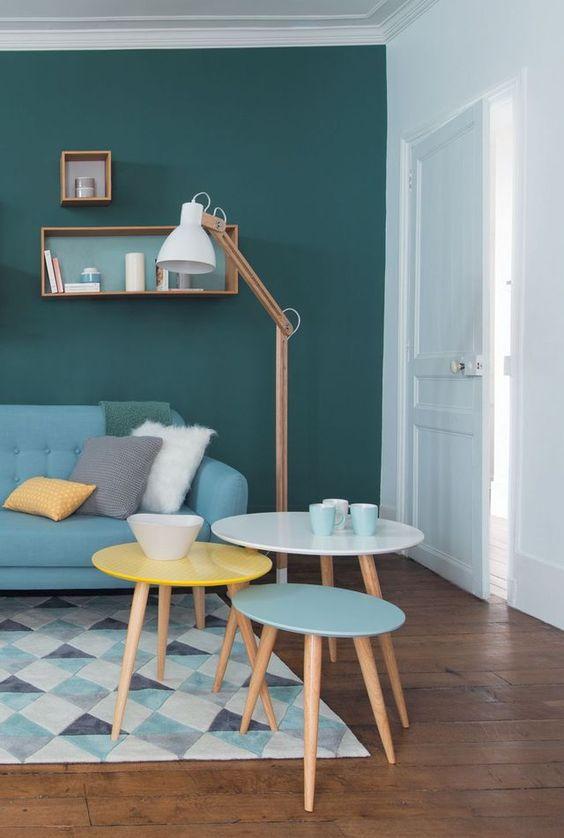 Tables gigognes Fjord, en bois, 3 tailles et couleurs différentes, 99 euros le set de 3, Maisons du Monde.: