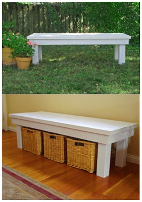Diy Bench Tutorial Be Great By The Front Door For Shoes