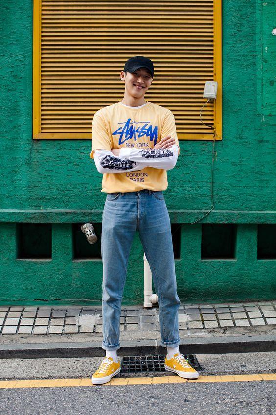 海外メンズの90年代コーデ