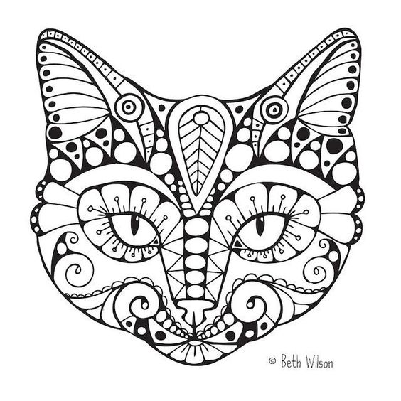 coloring pages coloring and cats on pinterest