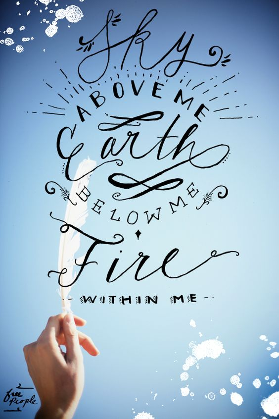 Monday Quote: Fire Within Me: