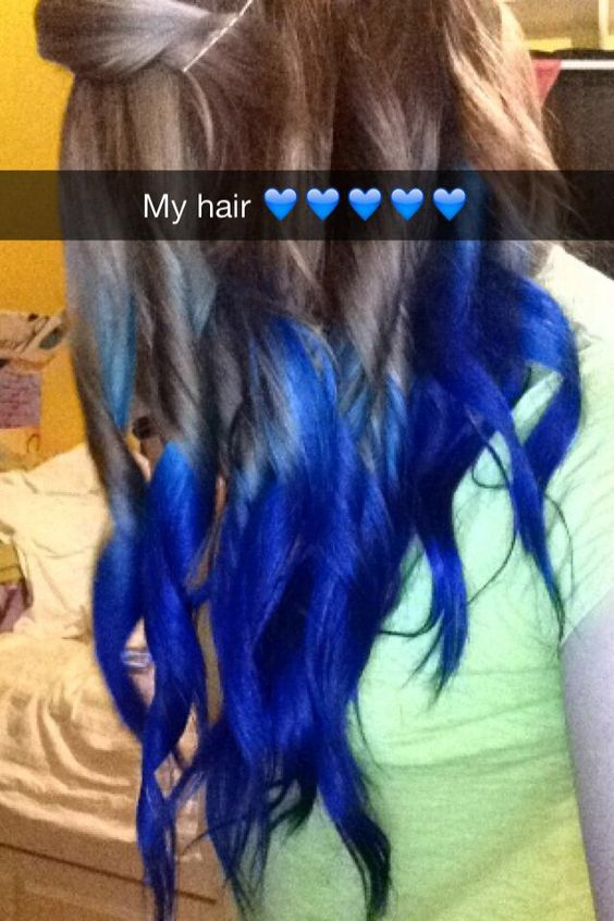 Hair Dip Dye My Experience With Splat Brands Blue Envy