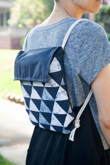A beautiful DIY backpack.: