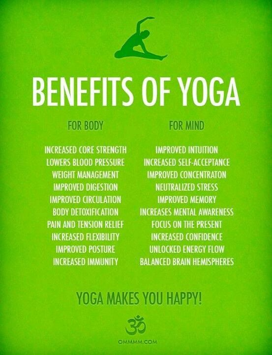 Benefits of yoga. Remember, you only have one body. Take care of it, there are no exchanges. #healthyliving #ymca: