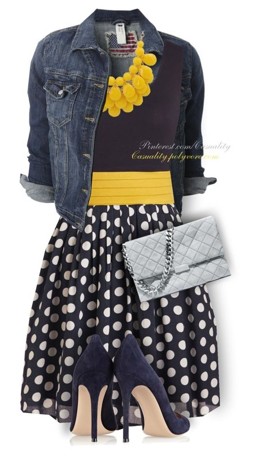 Yellow + Grey + Navy by casuality on Polyvore featuring Gianvito Rossi, STELLA McCARTNEY and plus size dresses: