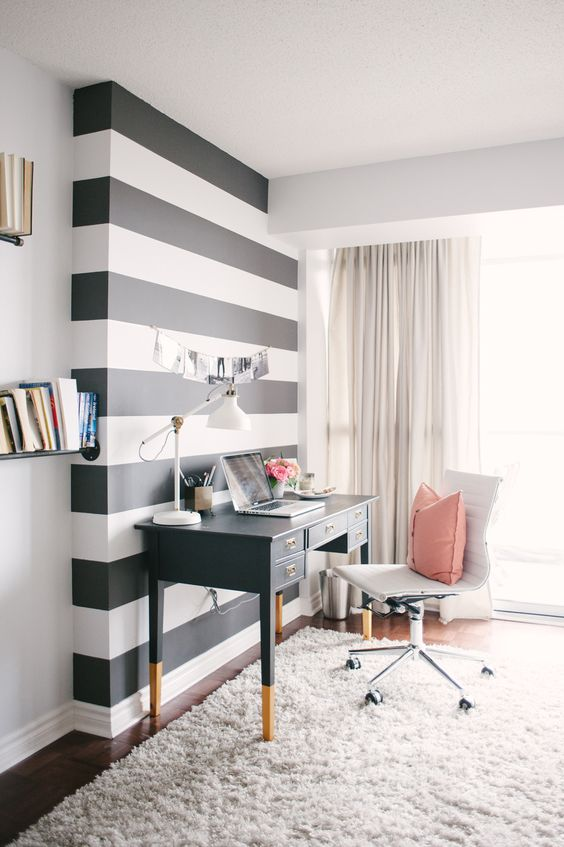 11 Diy Striped Walls Roundup Lolly Jane