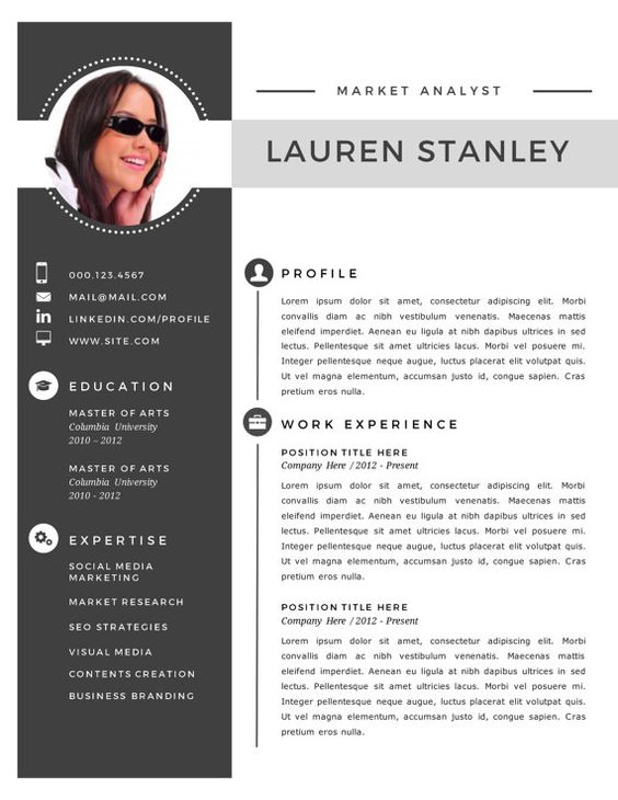 resume templates resume and templates on pinterest
