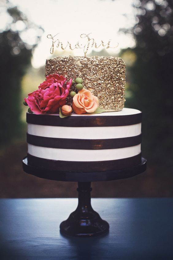 Stripes And Polka Dots Wedding Cake Google Search