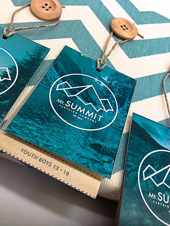 Mt.Summit Clothing Co. Identity & Hangtags by