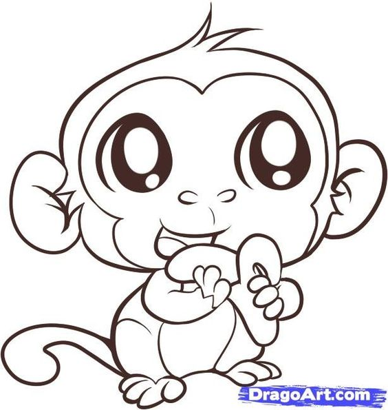 baby monkey coloring pages aductk