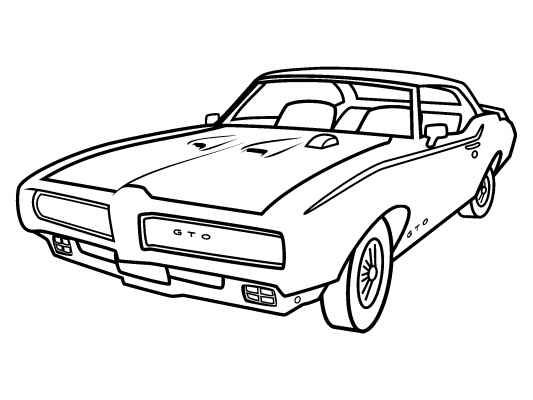 pontiac gto free coloring pages and free coloring on pinterest