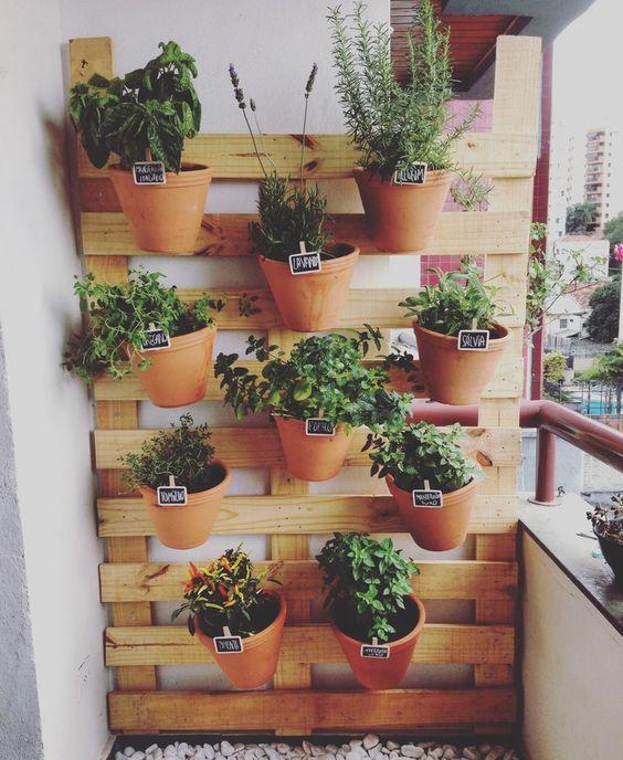 decoração com horta vertical. Horta vertical sob medida para apartamento: