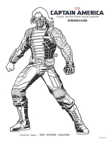 winter soldier the winter and coloring pages on pinterest