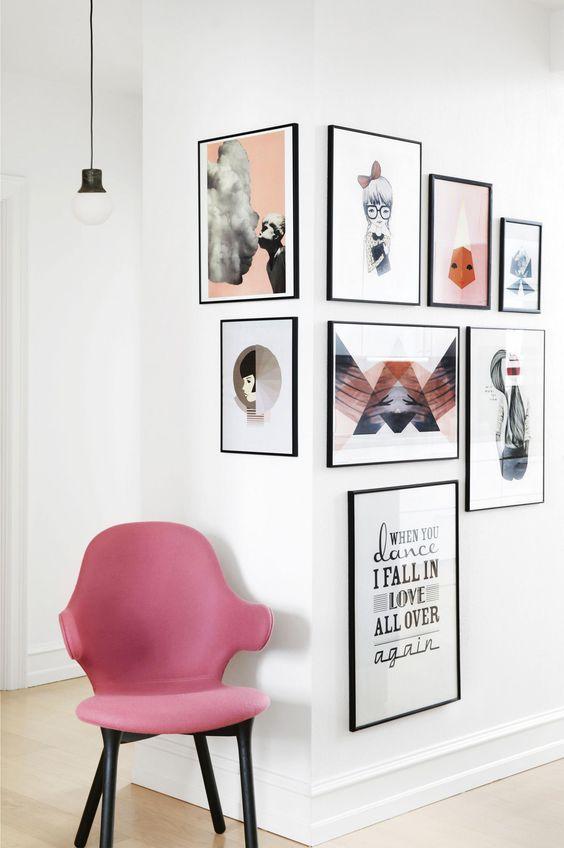 creative photo wall