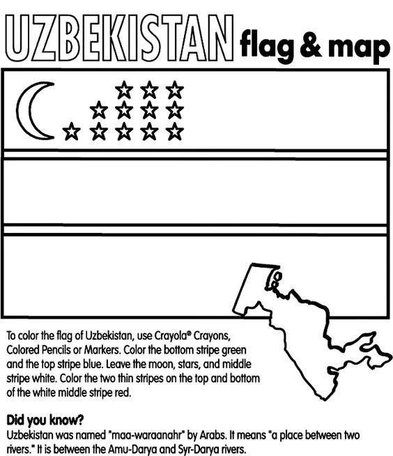 coloring pages central asia and countries in the world on pinterest
