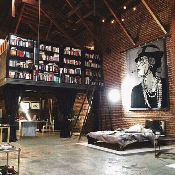 26 Spacious Loft Interiors Messagenote.com Books Area is totally amazing!:
